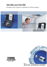 VIS 250 and VIS 350 Protable video inspection systems for defect analysis