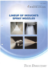 LINE UP OF IKEUCHI'S SPRAY NOZZLES