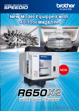 Compact Machining center SPEEDIO R650X2 40 tool magazine
