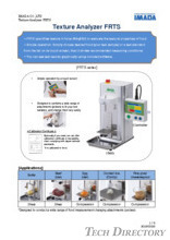 Rheometer (Texture analyzer) 『FRTS Series』