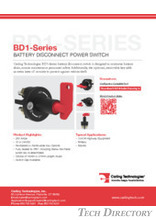 BD1-Series BATTERY DISCONNECT POWER SWITCH