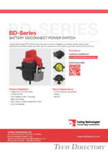 BD-Series BATTERY DISCONNECT POWER SWITCH