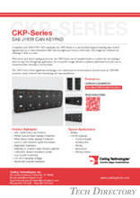 CKP-Series SAE J1939 CAN KEYPAD