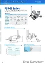 "For Cvlinder, Carbon Dioxide Pressure Regulator ""FCR-N Series"""