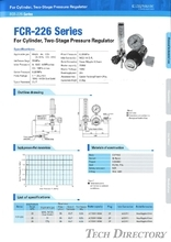 "For Cylinder, Two-Stage Pressure Regulator ""FCR-226 Sries"""