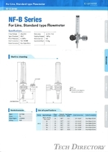 "For Liner, Standard type Flowmeter ""NF-B Series"""