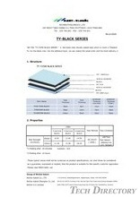 The Black Color Double Coated Tape 「TY-BLACK Series」 / NICHIEI KAKOH
