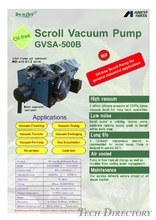 "Oil Free Scroll Vacuum Pump ""GVS(A) Series"""