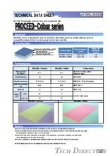 "NE-tak Fluorescent colored hard coat protective film ""PROCEED-Colour Series"""