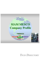 Sima MESCO CORPORATE PROFILE