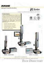 iQ-ES Servo Ultrasonic Welder Press System