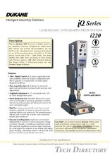 iQ-i220 Series Ultrasonic Welder Integrated Press System