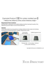 Thin plate molded part
